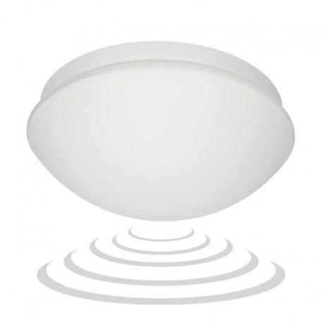 Orno MARIN, plafon oświetleniowy z mikrofalowym czujnikiem ruchu, 60W, E27, IP20, szkło matowe