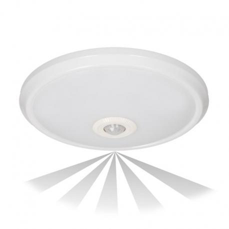 Orno ZONDA LED, plafon z czujnikiem ruchu, 12W, 800lm, 4000K, IP20, poliwęglan mleczny, biały