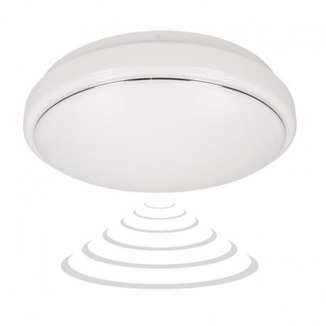 Orno VEGA LED 3, plafon z mikrofalowym czujnikiem ruchu, 18W, 1260lm, 4000K, IP20, PMMA, biały