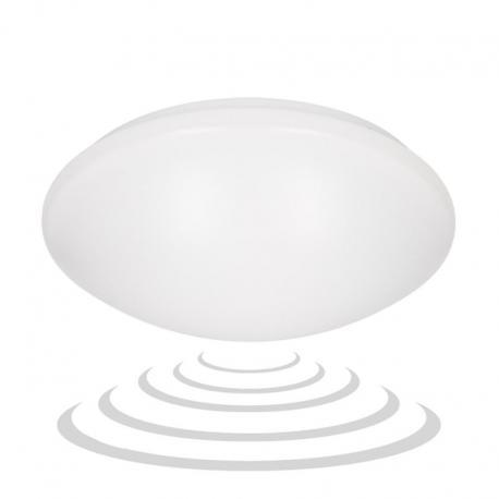 Orno VEGA ECO LED 1, plafon z mikrofalowym czujnikiem ruchu, 16W, 1120lm, 4000K, IP20, PMMA, biały