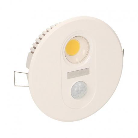 Orno TOBIA LED, oprawa z czujnikiem ruchu, 7W, 665lm, 3000K, IP20, biała