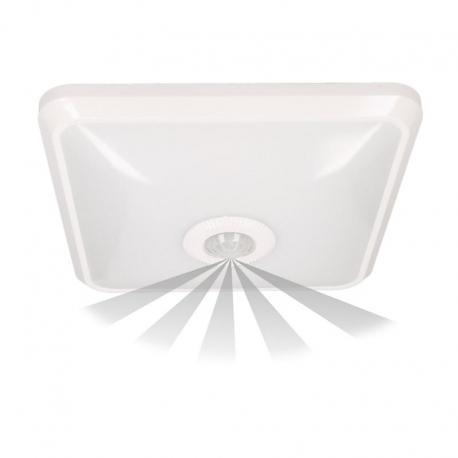 Orno NYK LED, plafon z czujnikiem ruchu, 12W, 850lm, 4000K, IP20, poliwęglan mleczny, biały