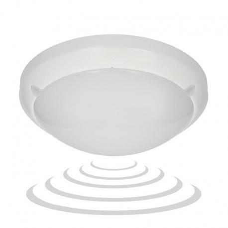 Orno LUMO LED, plafon z mikrofalowym czujnikiem ruchu, 3 funkcyjnym, 3W/16W, 1200lm, IP54, 4000K, poliwęglan mleczny, biały
