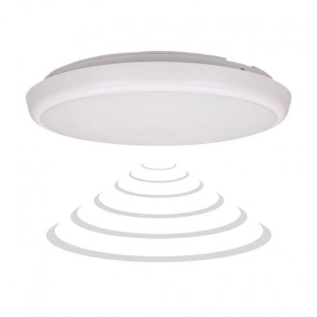 Orno CERS LED, plafon z mikrofalowym czujnikiem ruchu 22W, 2000lm, IP54, 4000K, poliwęglan mleczny biały, funkcja przyciemnienia