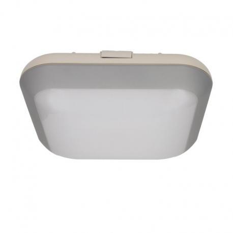 Orno MONSUN LED, plafon oświetleniowy, 15W, 1050lm, IP66, 4000K, poliwęglan mleczny, szary