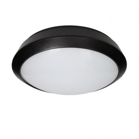Orno BRYZA ECO LED, plafon oświetleniowy, 12W, 900lm, IP66, 25000h, poliwęglan mleczny, czarny