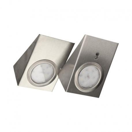 Orno Zestaw opraw podszafkowych LED 2,5W, 180lm, z wyłącznikiem bezdotykowym,, INOX