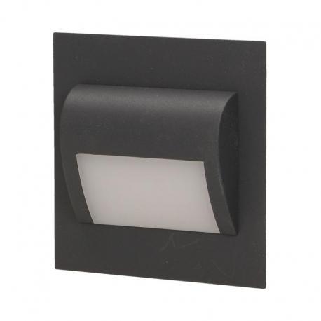 Orno DRACO LED, oprawa schodowa, 1,2W, 6000K, 100lm, grafit