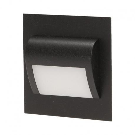Orno DRACO LED, oprawa schodowa, 1,2W, 6000K, 100lm, czarna