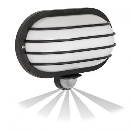 Orno SOLANO, oprawa z czujnikiem ruchu, 180st, 1x60W, E27, IP44, plastik, czarna