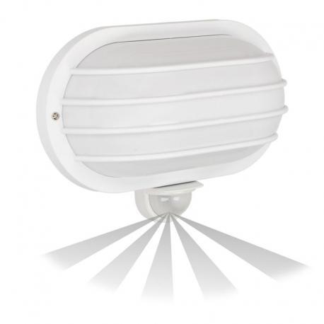 Orno SOLANO, oprawa z czujnikiem ruchu, 180st, 1x60W, E27, IP44, plastik, biała