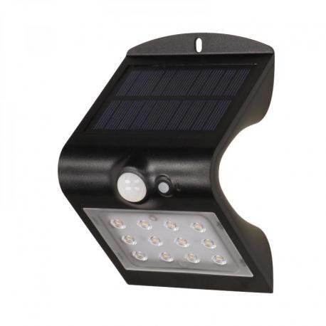 Orno SILOE LED, lampa solarna z czujnikiem ruchu, podwójne źródło światła, 1,5W, 190lm, 1200mAh, IP65, 4000K, czarna