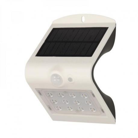 Orno SILOE LED, lampa solarna z czujnikiem ruchu, podwójne źródło światła, 1,5W, 190lm, 1200mAh, IP65, 4000K, biała