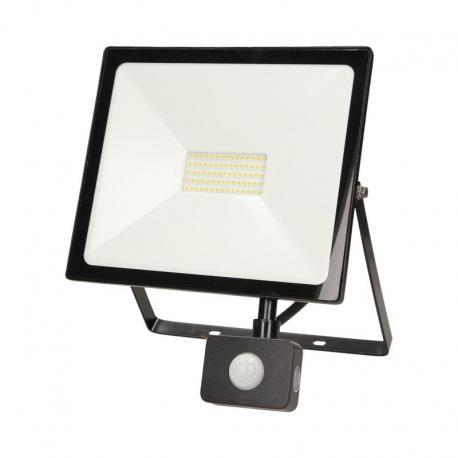Orno LEDO LED, naświetlacz z czujnikiem ruchu, 50W, 4000lm, IP44, 4000K, czarny