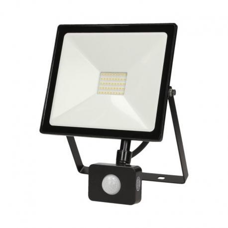 Orno LEDO LED, naświetlacz z czujnikiem ruchu, 30W, 2400lm, IP44, 4000K, czarny