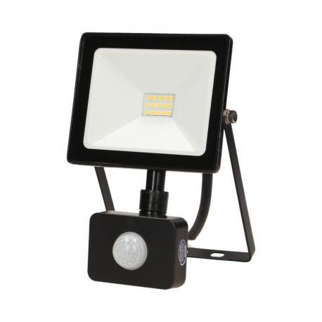 Orno LEDO LED, naświetlacz z czujnikiem ruchu, 10W, 800lm, IP44, 4000K, czarny