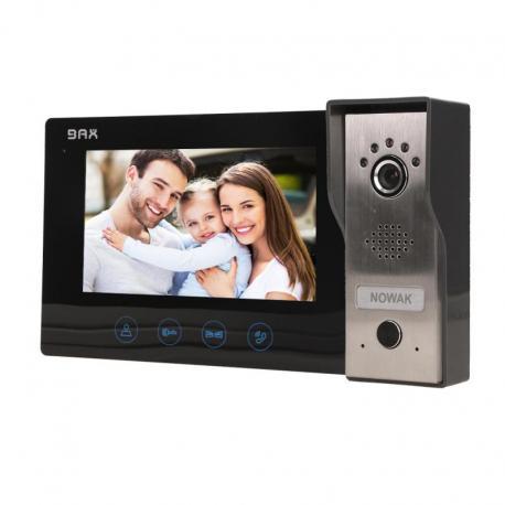 """Orno Zestaw wideodomofonowy, bezsłuchawkowy, kolor, LCD 7"""", czarny, PLUTON"""