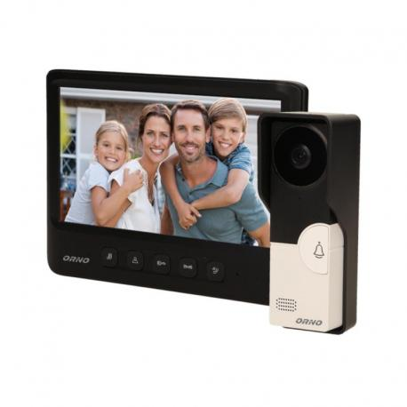 """Orno Zestaw wideodomofonowy, bezsłuchawkowy, kolor, LCD 7"""", czarny, IMAGO"""