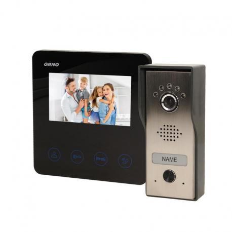"""Orno Zestaw wideodomofonowy, bezsłuchawkowy, kolor, LCD 4,3"""", czarny, DUX"""