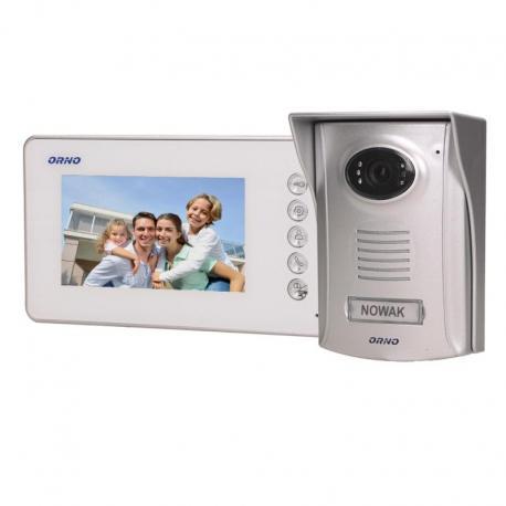 """Orno Zestaw wideodomofonowy bezsłuchawkowy, kolor LCD 4,3"""" z kamerą plastikową, AMMO"""