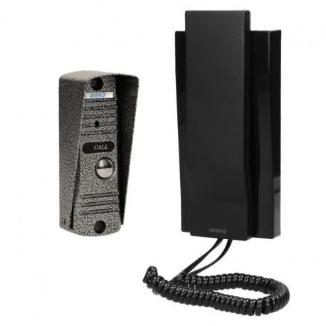 Orno Zestaw domofonowy jednorodzinny, wandaloodporny, czarny FORNAX