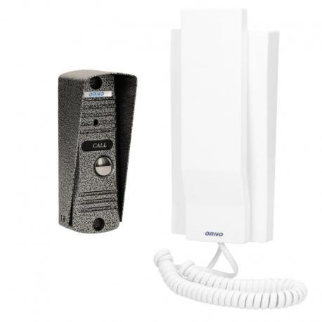 Orno Zestaw domofonowy jednorodzinny, wandaloodporny, biały FORNAX