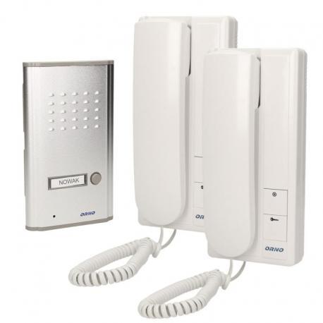 Orno Zestaw domofonowy jednorodzinny z interkomem, podtynkowy, FOSSA INTERCOM