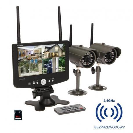 """Orno System do monitoringu 4-kanałowy, bezprzewodowy CCTV, monitor LCD 7"""""""