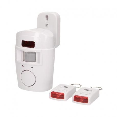 Orno Mini alarm z wbudowaną syreną sterowany pilotem, 6m, bateryjny