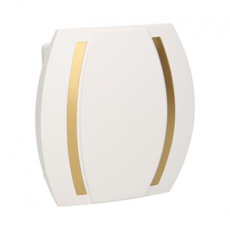 Orno Dzwonek Kameleon Gong 230V, obudowa biała, złoty