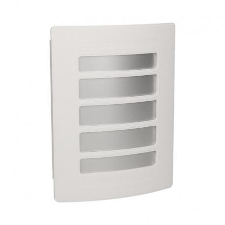 Orno Dzwonek Gong Ton Color 8V Biało-Srebrny