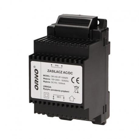 Orno Zasilacz na szynę DIN 15VDC/1,5A do zestawu z serii ARX i CRUX