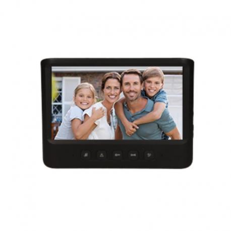 """Orno Wideo monitor bezsłuchawkowy, kolorowy, LCD 7"""", do zestawu z serii IMAGO, otwieranie bramy, czarny"""