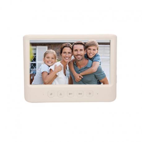 """Orno Wideo monitor bezsłuchawkowy, kolorowy, LCD 7"""", do zestawu z serii IMAGO, otwieranie bramy, biały"""