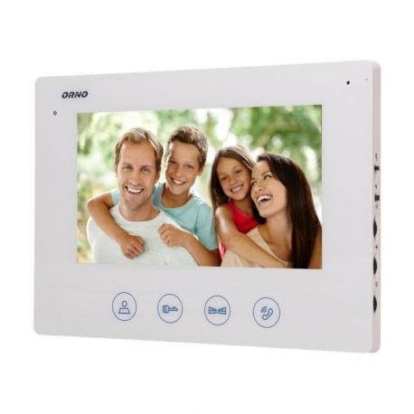 """Orno Wideo monitor bezsłuchawkowy, kolorowy, LCD 7"""", do zestawu z serii CERES, otwieranie bramy, biały"""