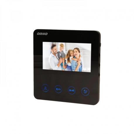 """Orno Wideo monitor bezsłuchawkowy, kolorowy, LCD 4,3"""", do zestawu z serii DUX, otwieranie bramy"""