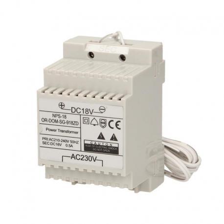 Orno Zasilacz na szynę DIN 18VDC/0,5A do domofonów z serii SAGITTA