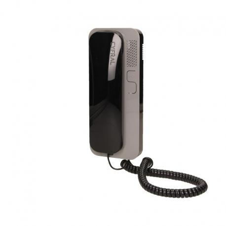 Orno Unifon wielolokatorski CYFRAL analogowy do instalacji 4,5,6 żyłowy SMART 5P, czarno-szary