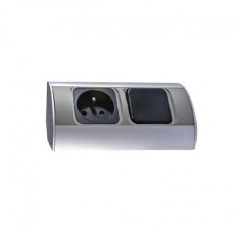 Orno Gniazdo meblowe z wyłącznikiem, 1x2P+Z