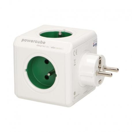 Orno Rozgałęźnik PowerCube z 5-krotnym gniazdem E/FR, (Original), zielony
