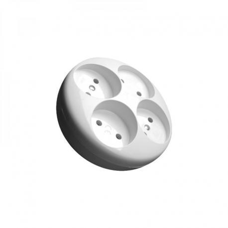 Orno Rozgałęźnik 4 gn okrągłe biały