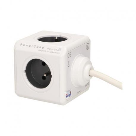 Orno Przedłużacz PowerCube REMOTE EXTENDED z wyłącznikiem 4xE/FR, przewód 1,5m, szary