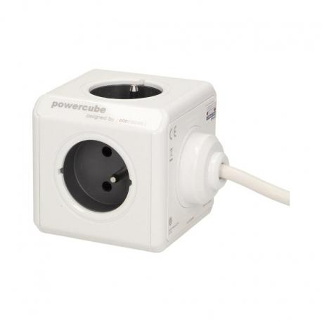 Orno Przedłużacz PowerCube EXTENDED USB z ładowarką USB 4xE/FR, 2xUSB, przewód 3m, szary