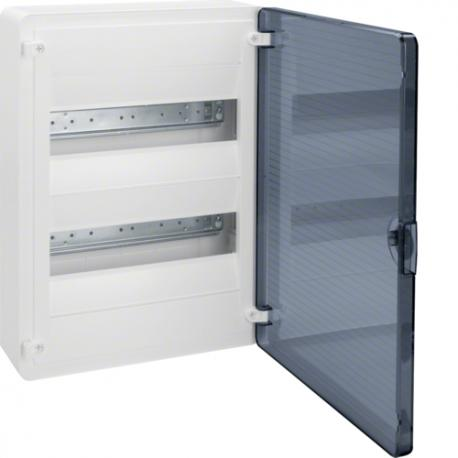 Hager Rozdzielnica 2x12 natynkowa IP40 Golf (drzwi transparentne) VS212TD