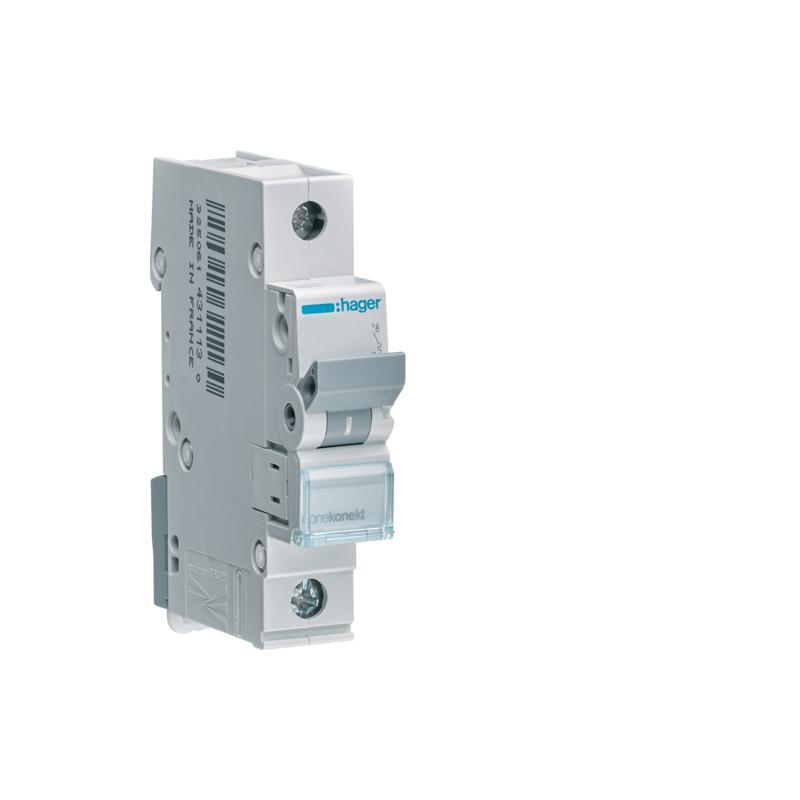 Hager Wyłącznik nadprądowy 1P B 10A 6kA AC MBN110E B10A