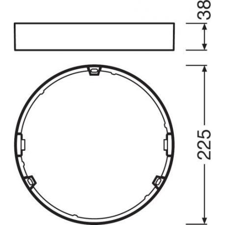 DOWNLIGHT SLIM ROUND FRAME 210 WT