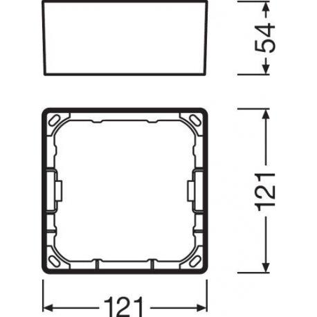 DOWNLIGHT SLIM SQUARE FRAME 105 WT
