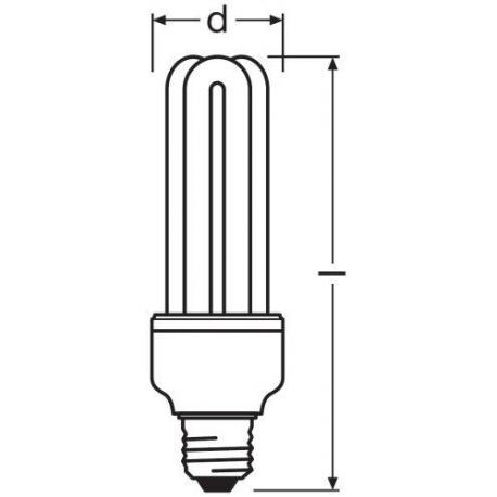 Świetlówka kompaktowa OSRAM DULUX® STICK 20 W/2700K 220…240 V E27 10szt.
