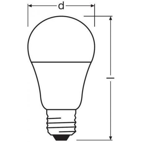 Żarówka LED VALUE CLASSIC A 75 FR 10 W/2700K E27