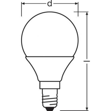 Żarówka LED VALUE CLASSIC P 40 FR 5.5 W/4000K E14 10szt.